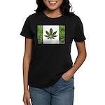 Legalize Marijuana Cannabis Flag Women's Dark T-Sh