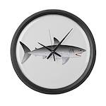 Megalodon Shark f Large Wall Clock
