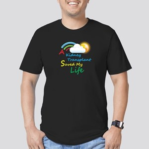 Kidney Transplant Rainbow Cloud Men's Fitted T-Shi
