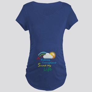 Kidney Transplant Rainbow Cloud Maternity Dark T-S