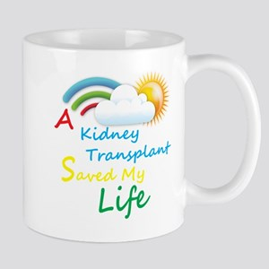 Kidney Transplant Rainbow Cloud Mug