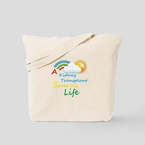 Kidney Transplant Rainbow Cloud Tote Bag