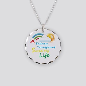 Kidney Transplant Rainbow Cloud Necklace Circle Ch