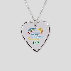Kidney Transplant Rainbow Cloud Necklace Heart Cha