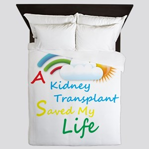 Kidney Transplant Rainbow Cloud Queen Duvet
