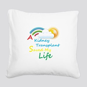 Kidney Transplant Rainbow Cloud Square Canvas Pill