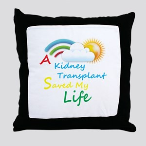 Kidney Transplant Rainbow Cloud Throw Pillow