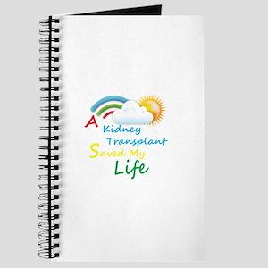 Kidney Transplant Rainbow Cloud Journal