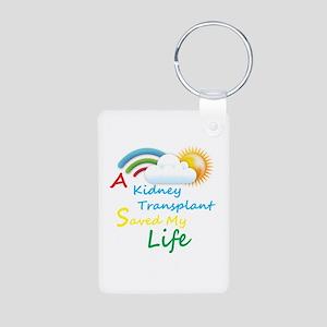 Kidney Transplant Rainbow Cloud Aluminum Photo Key