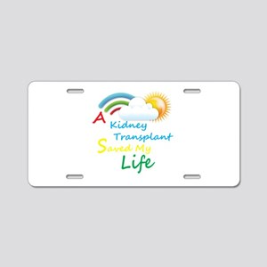 Kidney Transplant Rainbow Cloud Aluminum License P