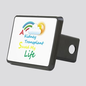 Kidney Transplant Rainbow Cloud Rectangular Hitch