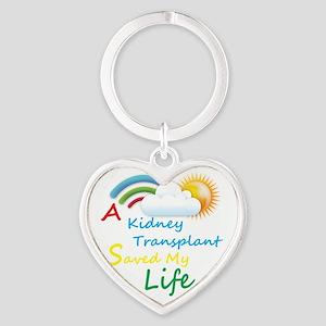Kidney Transplant Rainbow Cloud Heart Keychain