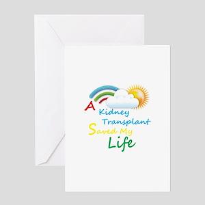 Transplant greeting cards cafepress kidney transplant rainbow cloud greeting card m4hsunfo
