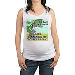 FIN-ass-coffee-break Maternity Tank Top