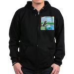 Fly Fishing Zip Hoodie (dark)