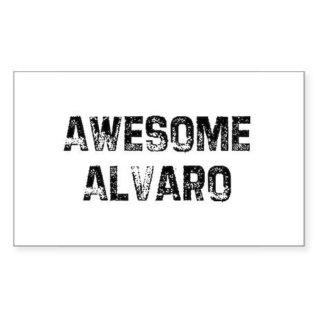 Awesome Alvaro Rectangle Sticker