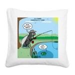 Fly Fishing Square Canvas Pillow