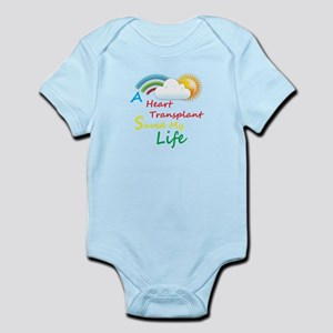 Heart Transplant Rainbow Cloud Infant Bodysuit
