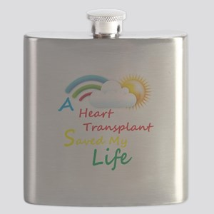 Heart Transplant Rainbow Cloud Flask