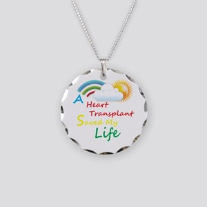Heart Transplant Rainbow Cloud Necklace Circle Cha