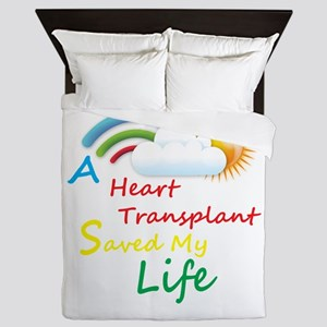 Heart Transplant Rainbow Cloud Queen Duvet