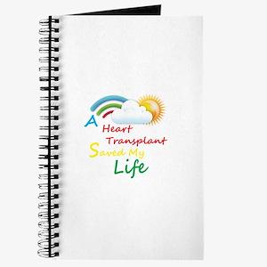 Heart Transplant Rainbow Cloud Journal