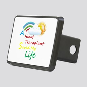 Heart Transplant Rainbow Cloud Rectangular Hitch C
