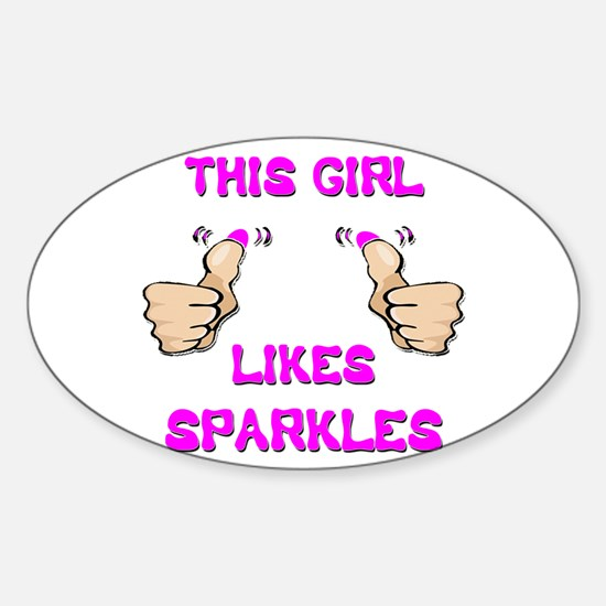 This Girl Likes Sparkles Sticker (Oval)