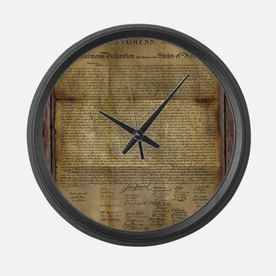 The Declaration of Independence Large Wall Clock