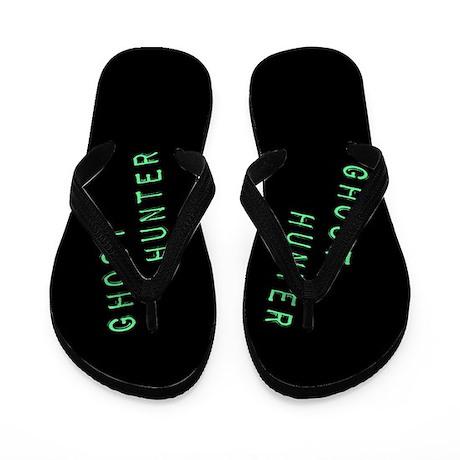 Ghost Hunter (Label Text) Flip Flops