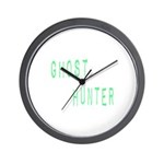 Ghost Hunter (Label Text) Wall Clock