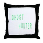 Ghost Hunter (Label Text) Throw Pillow