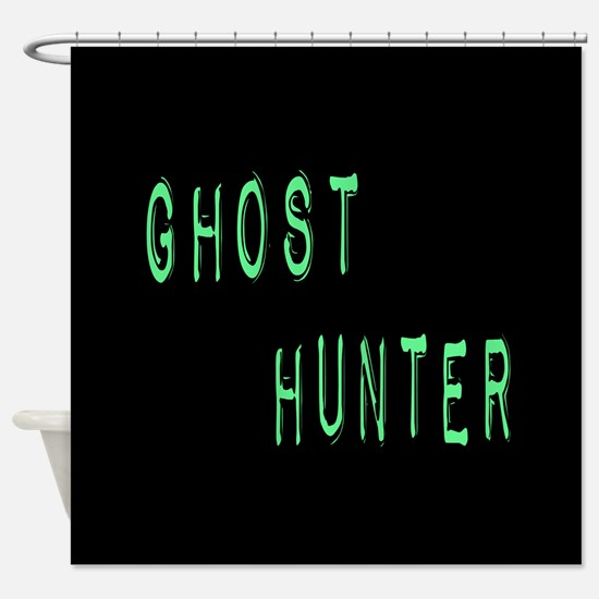 Ghost Hunter (Label Text) Shower Curtain