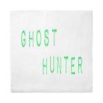 Ghost Hunter (Label Text) Queen Duvet
