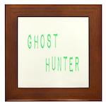 Ghost Hunter (Label Text) Framed Tile