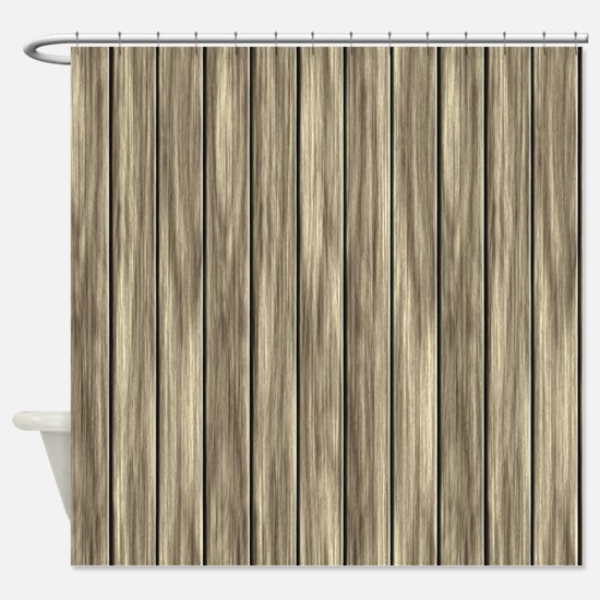 Vintage Weathered Boards Shower Curtain
