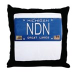Michigan NDN Pride Throw Pillow