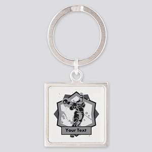 Personalized Boxer Square Keychain