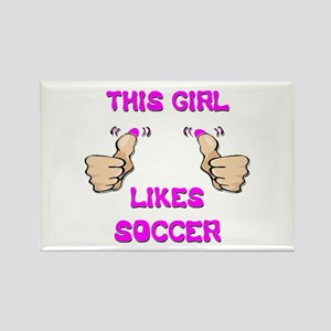 This Girl Likes Soccer Rectangle Magnet