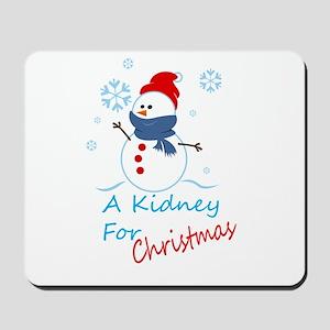 A Kidney For Christmas Snow Man Mousepad