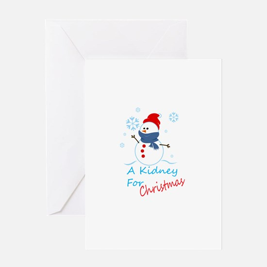 A Kidney For Christmas Snow Man Greeting Card