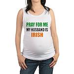 Pray Husband Irish Maternity Tank Top