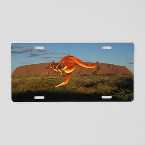 Kangaroo Aluminum License Plate