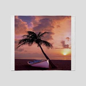 Beach Sunset4799SQ Throw Blanket