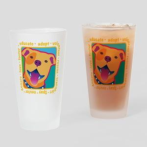 Bright Pittie Drinking Glass
