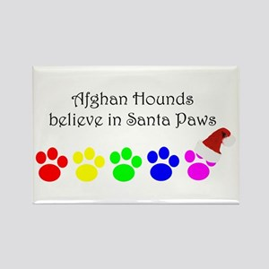Afghan Hounds Believe Rectangle Magnet