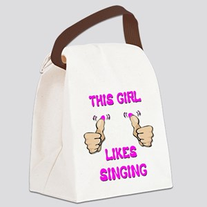 This Girl Likes Singing Canvas Lunch Bag