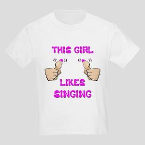 This Girl Likes Singing Kids Light T-Shirt