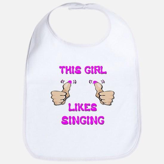 This Girl Likes Singing Bib