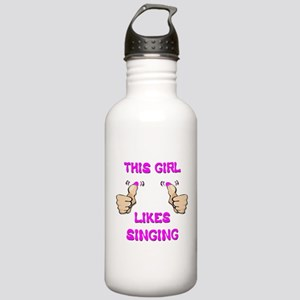 This Girl Likes Singing Stainless Water Bottle 1.0